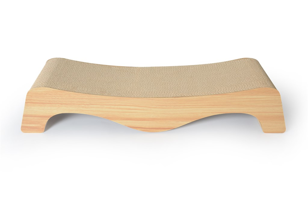 Cat scratching lounge kinchla display for Curved cat scratcher